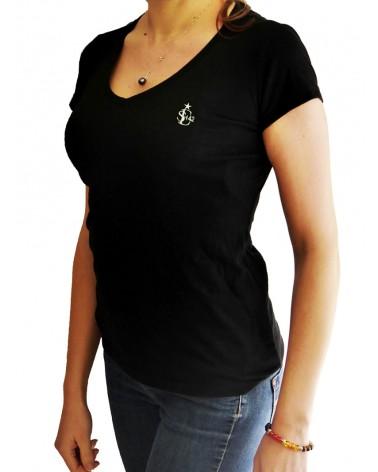 T-shirt Col V Femme...